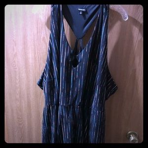 Torrid Size 4 razor back dress with keyhole front